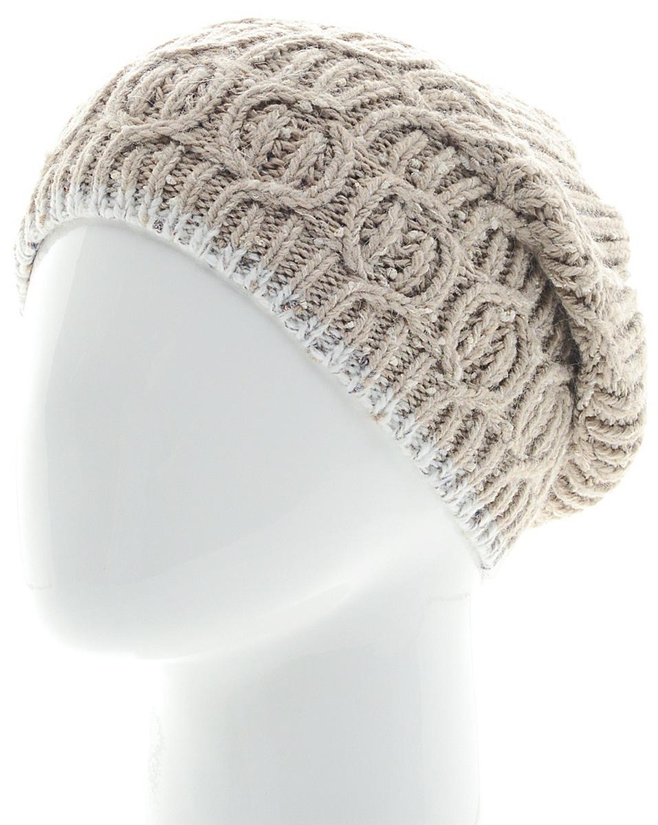 Шапка женская Marhatter, цвет: светло-бежевый. Размер 56/58. MWH6749/2MWH6749/2Стильная шапка-колпак, выполнена из высококачественной пряжи. Модель очень актуальна для тех, кто ценит комфорт, стиль и красоту. Отличный вариант на каждый день.
