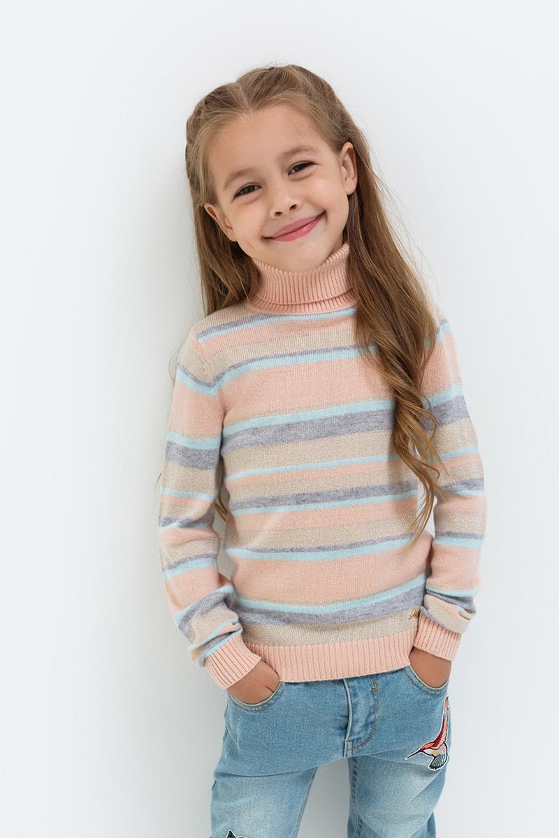 Свитер для девочек Acoola Harrison, цвет: светло-розовый. 20220320020. Размер 9820220320020