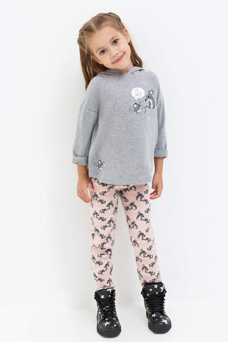 Леггинсы для девочки Acoola Fleming, цвет: бледно-розовый. 20220160127. Размер 11020220160127Леггинсы от Acoola выполнены из плотного вязаного трикотажа, декорированы принтом. Модель с талией на эластичной резинке.