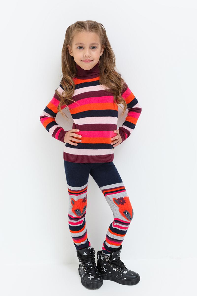 Леггинсы для девочки Acoola Fleming, цвет: темно-синий, оранжевый, серый. 20220160127. Размер 12820220160127Леггинсы от Acoola выполнены из плотного вязаного трикотажа, декорированы принтом. Модель с талией на эластичной резинке.
