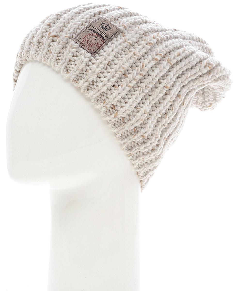 Шапка женская Marhatter, цвет: светло-бежевый. Размер 56/58. MWH7053/2MWH7053/2Теплая шапка из высококачественной пряжи оформлена оригинальной вязкой. Практичный и стильный вариант, который идеально дополнит ваш современный образ.