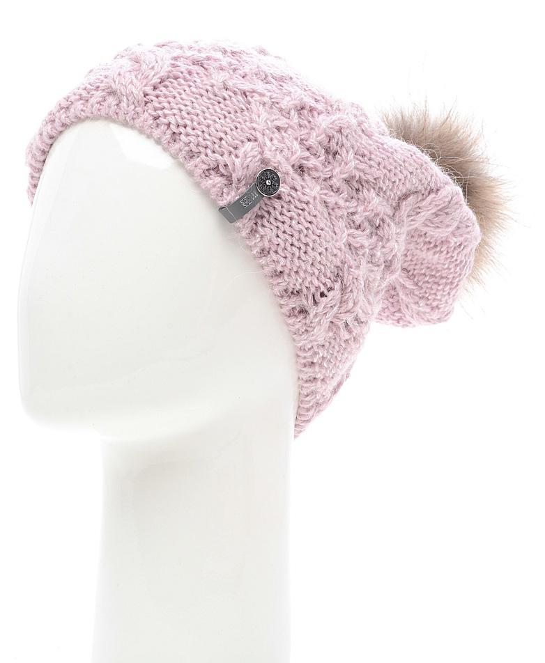 Шапка женская Marhatter, цвет: светло-розовый. MWH6759/2. Размер 56/58MWH6759/2Стильная шапка с помпоном добавит уникальность вашему образу. Данная модель мягкая и комфортная на ощупь. Модель на полном флисе.