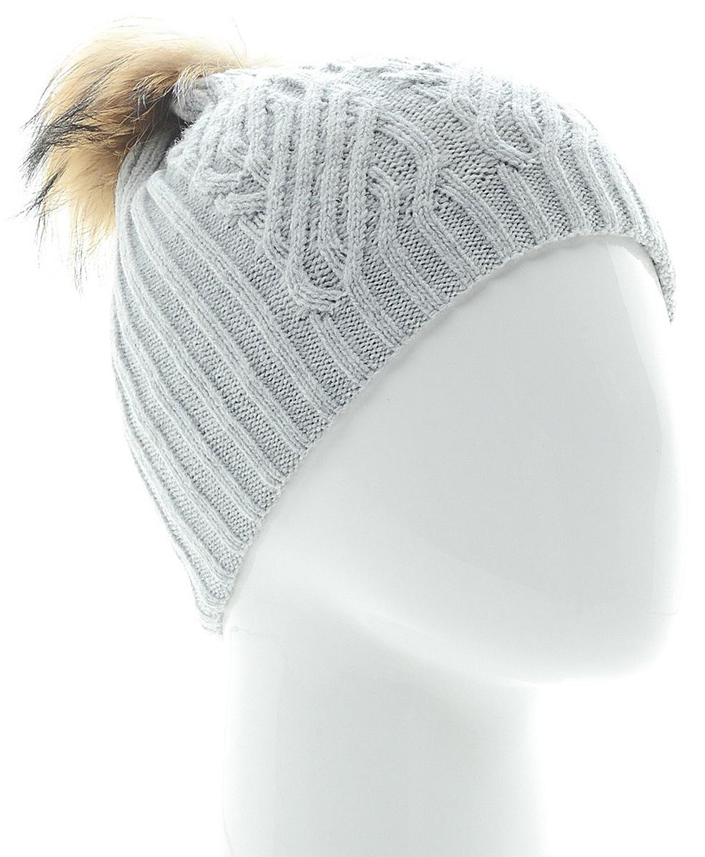 Шапка женская Marhatter, цвет: светло-серый. MLH6882/3. Размер 56/58MLH6882/3Стильная шапка с помпоном добавит уникальность вашему образу. Данная модель мягкая и комфортная на ощупь. Модель на полном флисе.