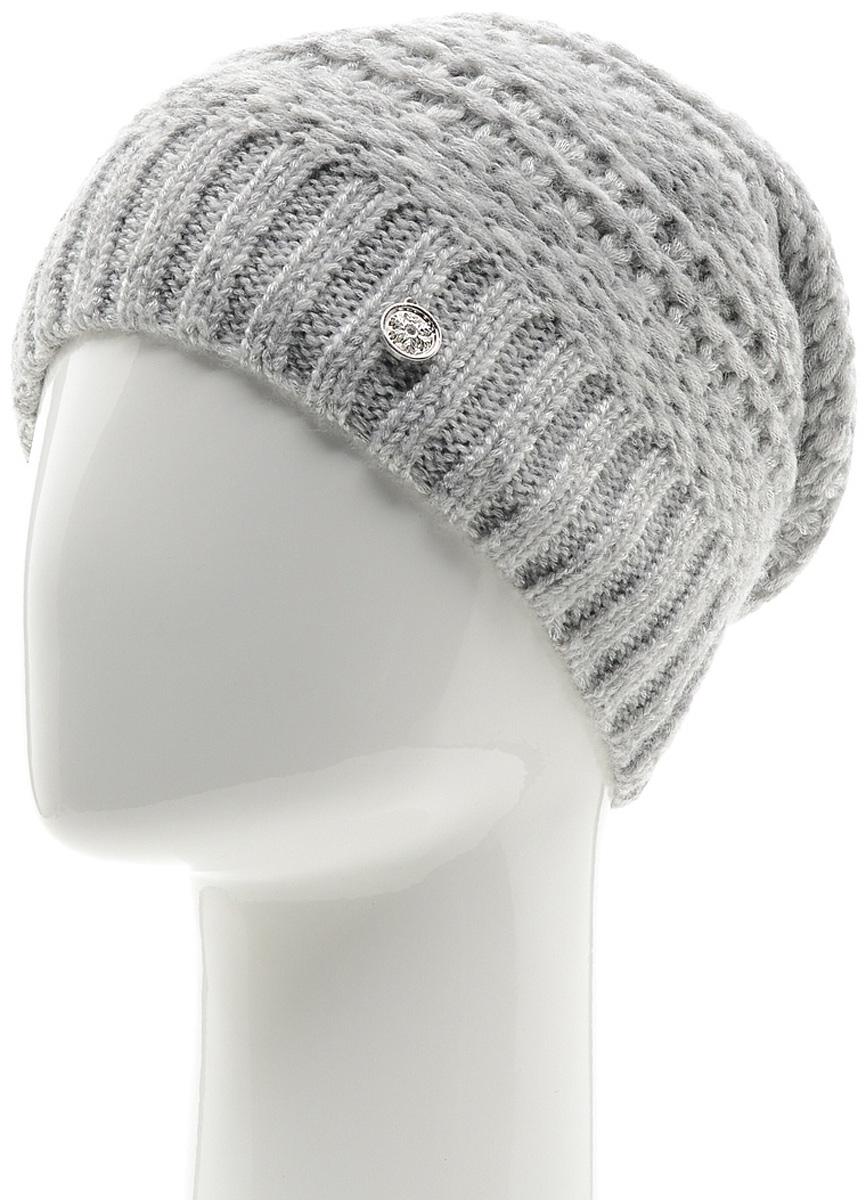 Шапка женская Marhatter, цвет: светло-серый. Размер 56/58. MWH6756/2MWH6756/2Теплая шапка из высококачественной пряжи. Практичный и стильный вариант, который идеально дополнит ваш современный образ. Изделие оформлено оригинальным узором.