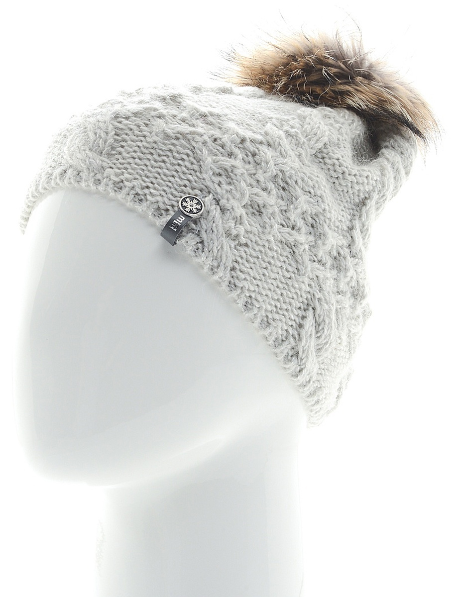Шапка женская Marhatter, цвет: светло-серый. MWH6759/2. Размер 56/58MWH6759/2Стильная шапка с помпоном добавит уникальность вашему образу. Данная модель мягкая и комфортная на ощупь. Модель на полном флисе.