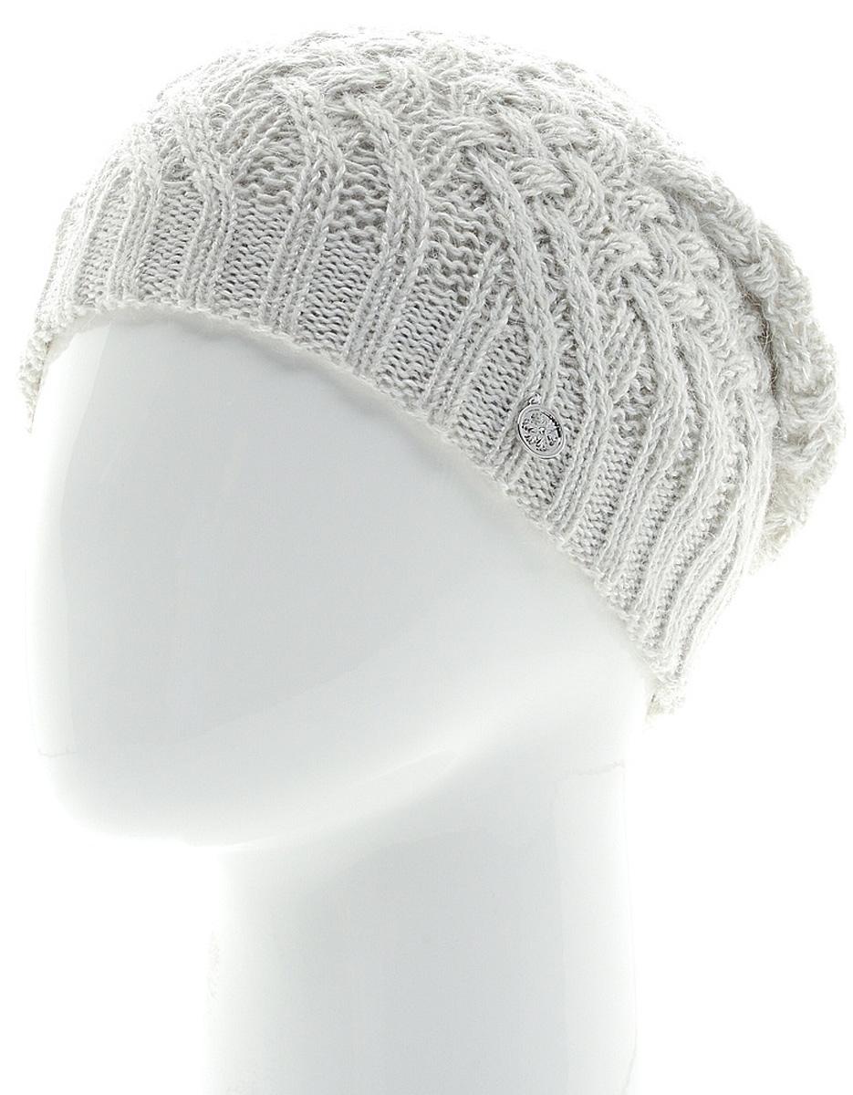 Шапка женская Marhatter, цвет: светло-серый. MWH6769/3. Размер 56/58MWH6769/3Стильная шапка, выполнена из высококачественной пряжи. Модель очень актуальна для тех, кто ценит комфорт, стиль и красоту. Отличный вариант на каждый день.