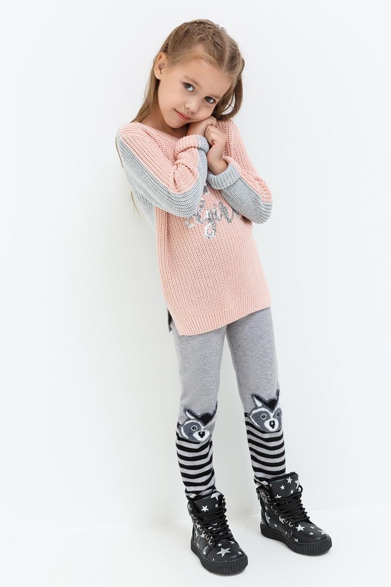 Леггинсы для девочки Acoola Fleming, цвет: серый. 20220160127. Размер 11620220160127Леггинсы от Acoola выполнены из плотного вязаного трикотажа, декорированы принтом. Модель с талией на эластичной резинке.