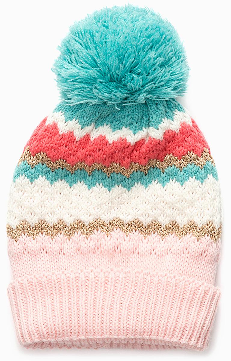 Шапка для девочки Acoola Abel, цвет: розовый, бирюзовый. 20236400037. Размер XS (50)20236400037Детская шапка от Acoola выполнена из натуральной акриловой пряжи и декорирована помпоном. Такая шапка согреет вашего ребенка в холодное время года.