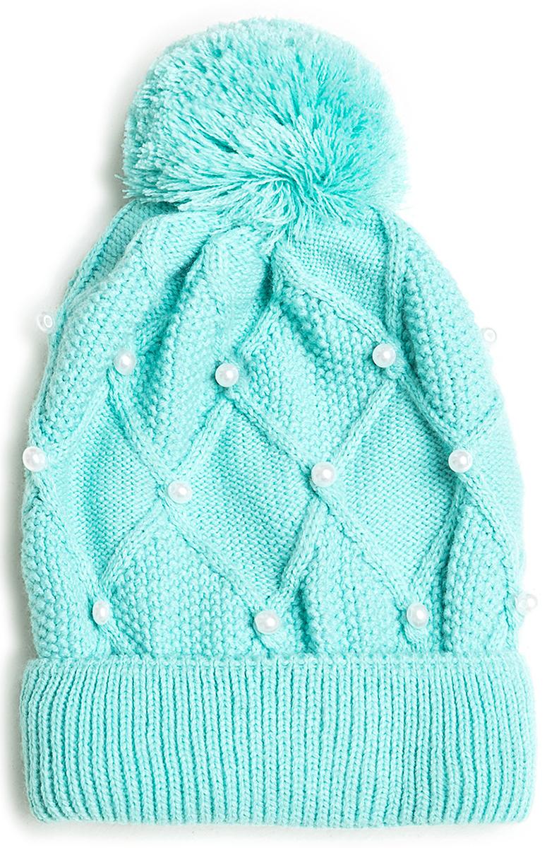 Шапка для девочки Acoola Berto, цвет: голубой. 20216400023. Размер M (52)20216400023Детская шапка от Acoola выполнена из натуральной акриловой пряжи и декорирована помпоном. Такая шапка согреет вашего ребенка в холодное время года.
