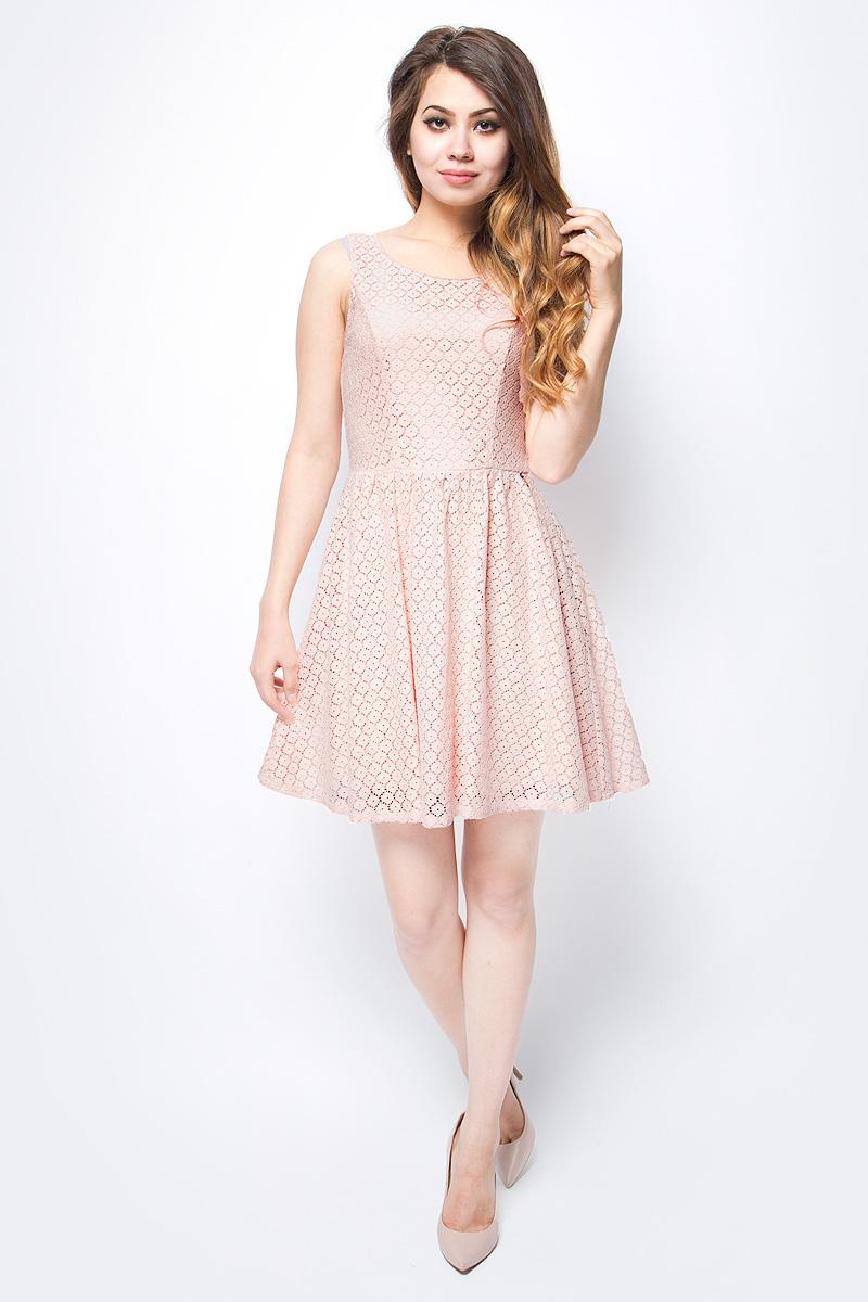 Платье женское Only, цвет: оранжевый. 15114482_Peachy Keen. Размер 34 (40)15114482_Peachy KeenСтильное платье Only, выполненное из высококачественного материала, прекрасный вариант для модных женщин, желающих подчеркнуть свою индивидуальность и хороший вкус. Модель без рукавов, с круглым вырезом горловины и открытой спиной сзади застегивается на две пуговице.Красивое и необычное платье сделает вас неотразимой и потрясающей.