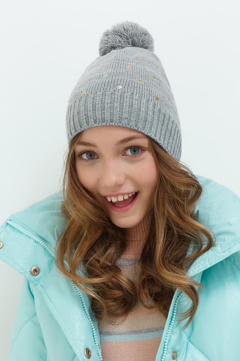 Шапка для девочки Acoola Nacco, цвет: серый. 20236400038. Размер M (52)20236400038Детская шапка от Acoola выполнена из натуральной акриловой пряжи и декорирована помпоном. Такая шапка согреет вашего ребенка в холодное время года.