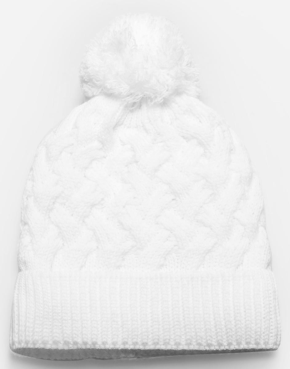 Шапка для девочки Acoola Nat, цвет: молочный. 20216400024. Размер L (54)20216400024Детская шапка от Acoola выполнена из натуральной акриловой пряжи и декорирована помпоном. Такая шапка согреет вашего ребенка в холодное время года.