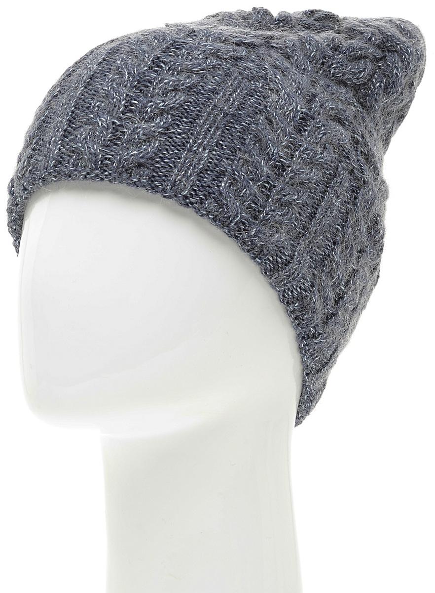 Шапка женская Marhatter, цвет: серый. MWH5739/3. Размер 56/58MWH5739/3Стильная шапка-колпак, выполнена из высококачественной пряжи. Модель очень актуальна для тех, кто ценит комфорт, стиль и красоту. Отличный вариант на каждый день.