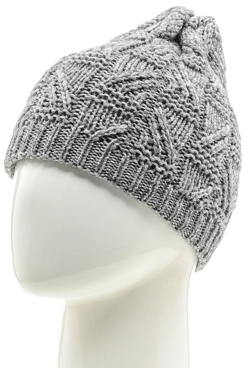Шапка женская Marhatter, цвет: серый. MWH6966/3. Размер 56/58MWH6966/3Стильная шапка-колпак, выполнена из высококачественной пряжи. Модель очень актуальна для тех, кто ценит комфорт, стиль и красоту. Отличный вариант на каждый день.
