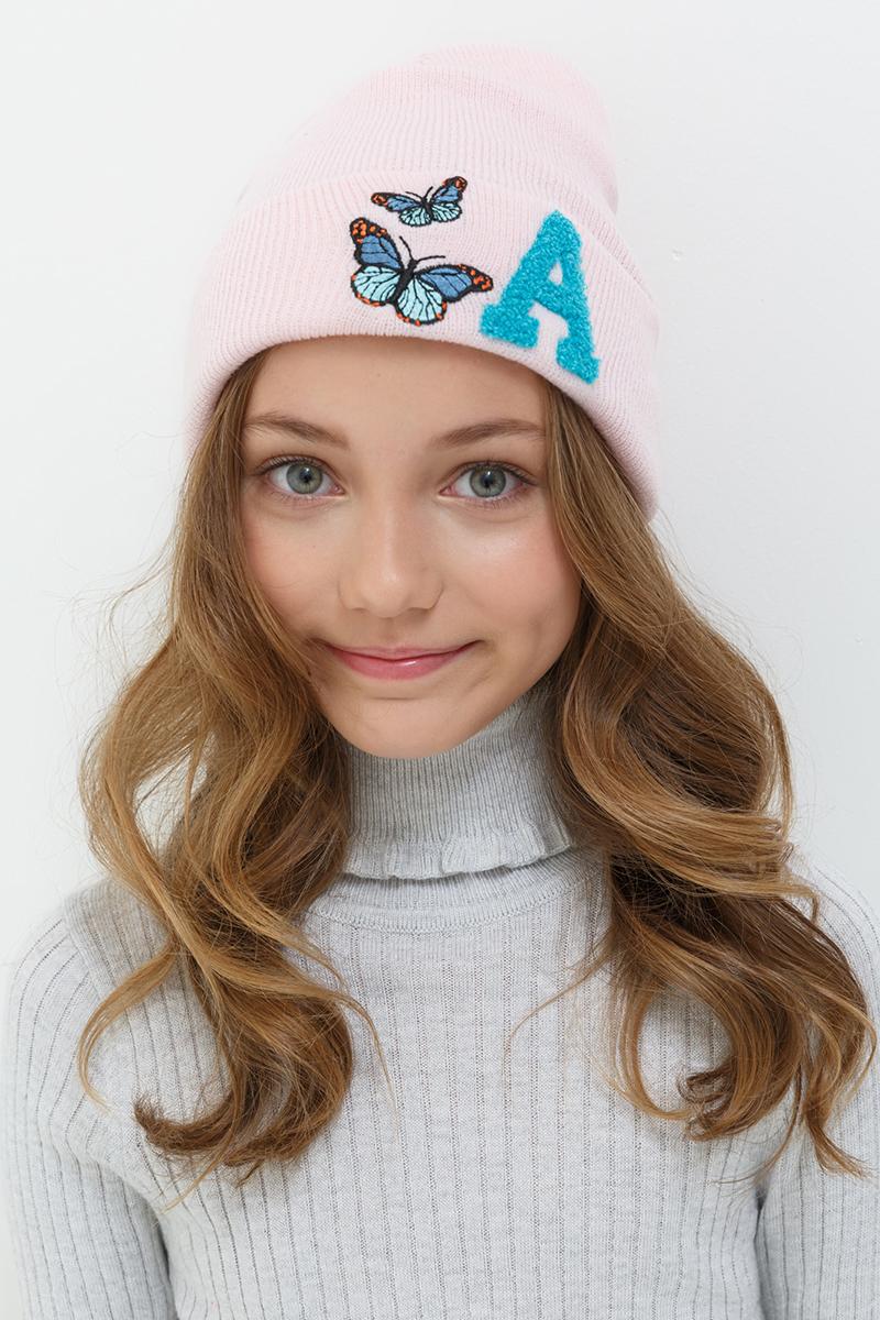 Шапка для девочек Acoola Runala, цвет: бледно-розовый. 20226400024. Размер XS (50)20226400024