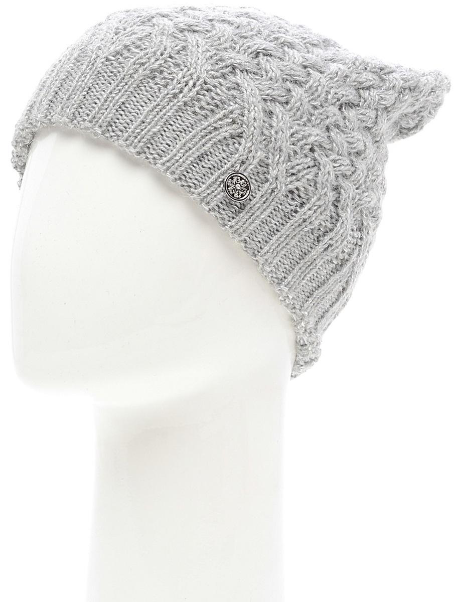 Шапка женская Marhatter, цвет: серый. MWH6769/3. Размер 56/58MWH6769/3Стильная шапка, выполнена из высококачественной пряжи. Модель очень актуальна для тех, кто ценит комфорт, стиль и красоту. Отличный вариант на каждый день.