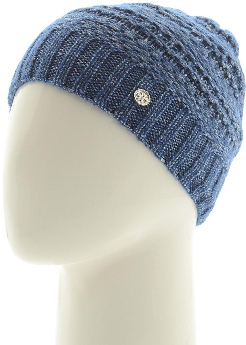 Шапка женская Marhatter, цвет: синий. Размер 56/58. MWH6756/2MWH6756/2Теплая шапка из высококачественной пряжи. Практичный и стильный вариант, который идеально дополнит ваш современный образ. Изделие оформлено оригинальным узором.