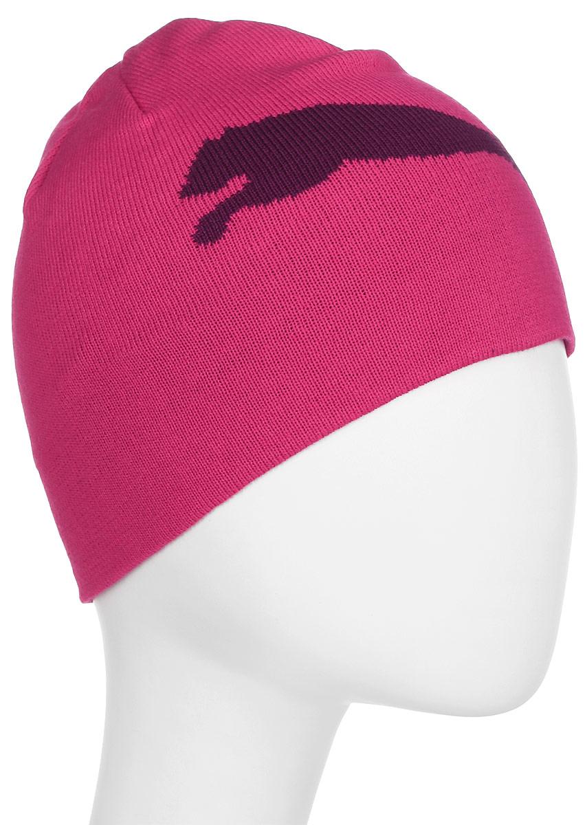 Шапка Puma ESS Big Cat Beanie, цвет: малиновый. 05292534. Размер 56/5805292534Двухслойная вязаная в резинку шапка с логотипами Puma. Удобная шапка согреет вас холодным осенним или зимним днем.