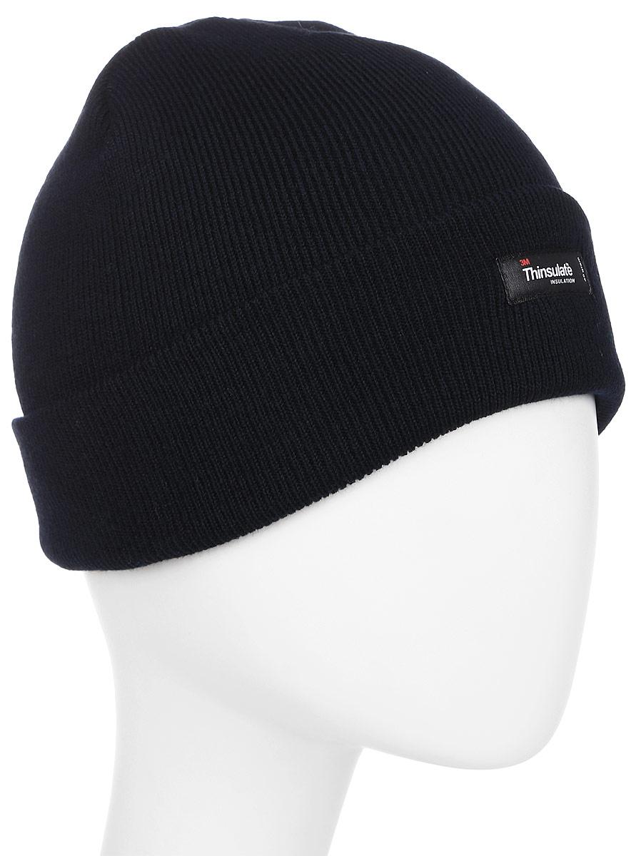 Шапка Ignite, цвет: темно-синий. B-4104. Размер универсальный (54/61)B-4104Шапка Ignite отлично подойдет для повседневной носки в прохладную погоду. Шапка выполнена из высококачественного акрила, что позволяет ей максимально сохранять тепло и обеспечивает идеальную посадку. Модель выполнена с отворотом.Такая шапка станет модным дополнением к вашему гардеробу. Модель выполнена в лаконичном стиле и дополнена фирменной нашивкой. Уважаемые клиенты!Размер, доступный для заказа, является обхватом головы.