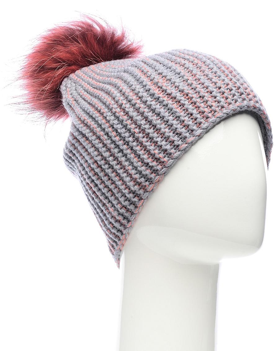 Шапка женская Marhatter, цвет: серый. MLH6184/2. Размер 56/58MLH6184/2Стильная шапка с помпоном добавит уникальность вашему образу. Данная модель мягкая и комфортная на ощупь. Модель с отворотом на полном флисе.