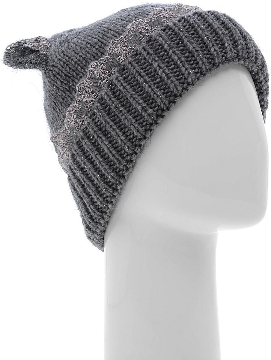 Шапка женская Marhatter, цвет: темно-серый. Размер 56/58. MWH6281/2MWH6281/2Стильная шапка с ушками добавит уникальность вашему образу. Данная модель мягкая и комфортная на ощупь. Незаменимая вещь на прохладную погоду.