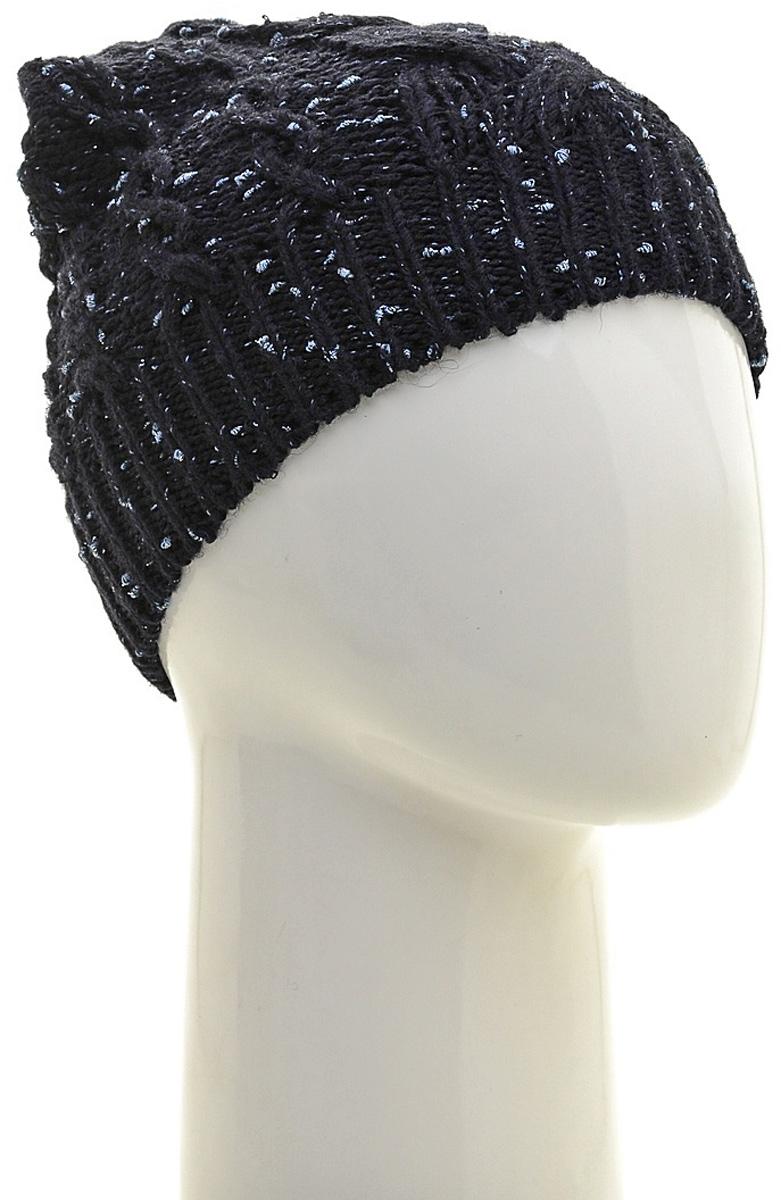 Шапка женская Marhatter, цвет: темно-синий. Размер 56/58. MWH6527/2MWH6527/2Стильная шапка-колпак, выполнена из высококачественной пряжи. Модель очень актуальна для тех, кто ценит комфорт, стиль и красоту. Отличный вариант на каждый день.