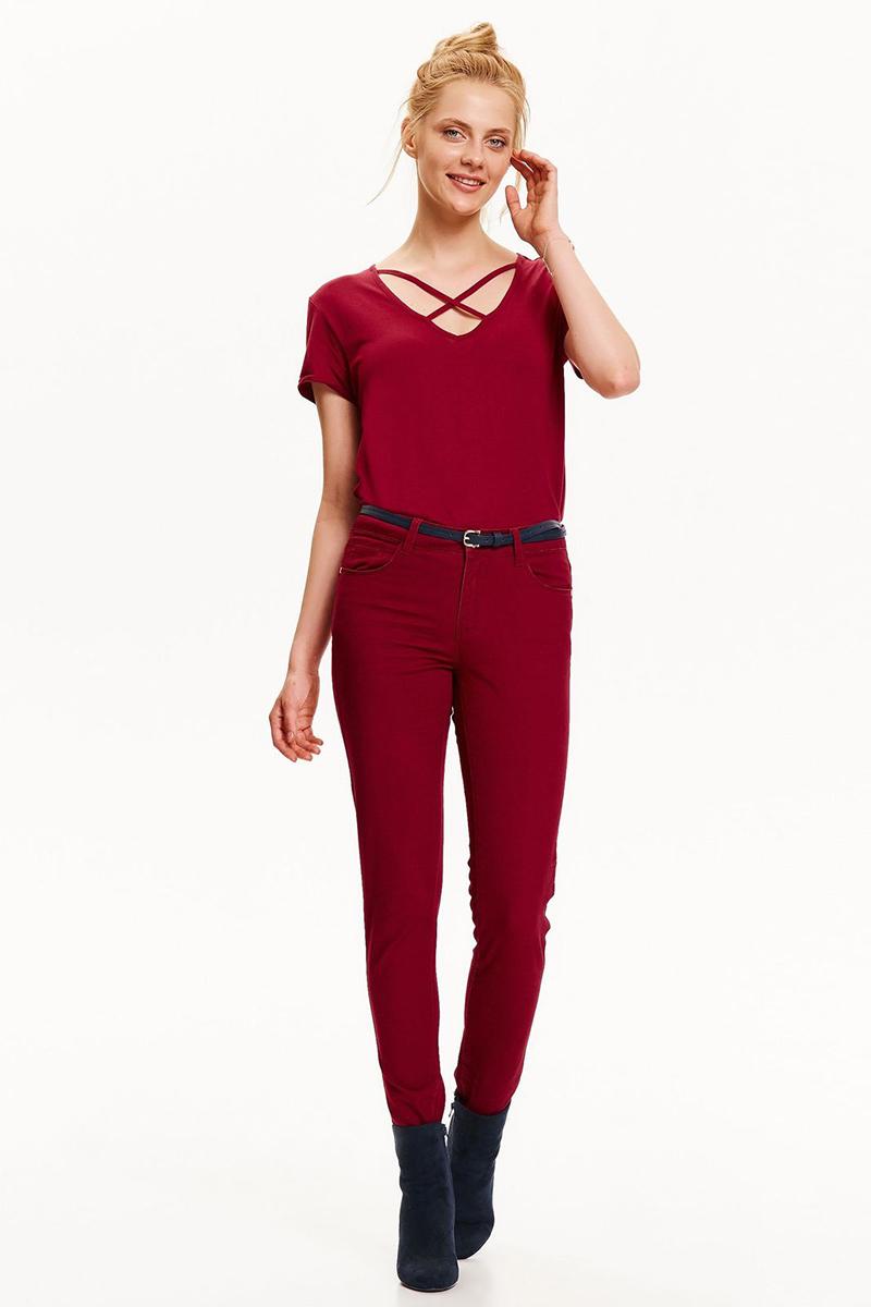 Футболка женская Top Secret, цвет: красный. SBK2273CE. Размер 34 (42)SBK2273CE