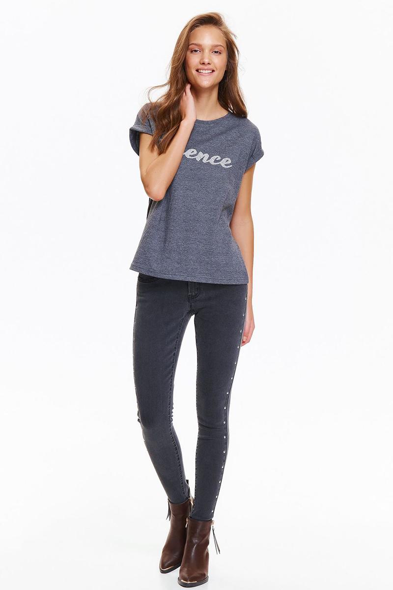 Джинсы женские Top Secret, цвет: серый. SSP2624ST. Размер 34 (42)SSP2624STСтильные женские джинсы Top Secret выполнены из хлопка с добавлением полиэстера и эластана. Модель скинни дополнена двумя боковыми карманами спереди и небольшим потайным кармашком, а также двумя накладными карманами сзади. Вдоль боковых швов брючины оформлены металлическими клепками. Эти модные и в тоже время комфортные джинсы послужат отличным дополнением к вашему гардеробу.