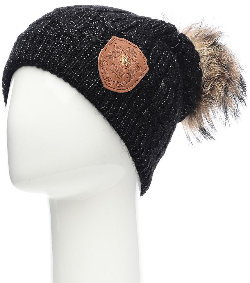 Шапка женская Marhatter, цвет: черный. Размер 56/58. MWH5060/3MWH5060/3Стильная шапка с помпоном сочетает в себе эстетические элементы с высокой практичностью. Такая модель будет актуальна как на спортивных мероприятиях, так и в повседневной жизни.