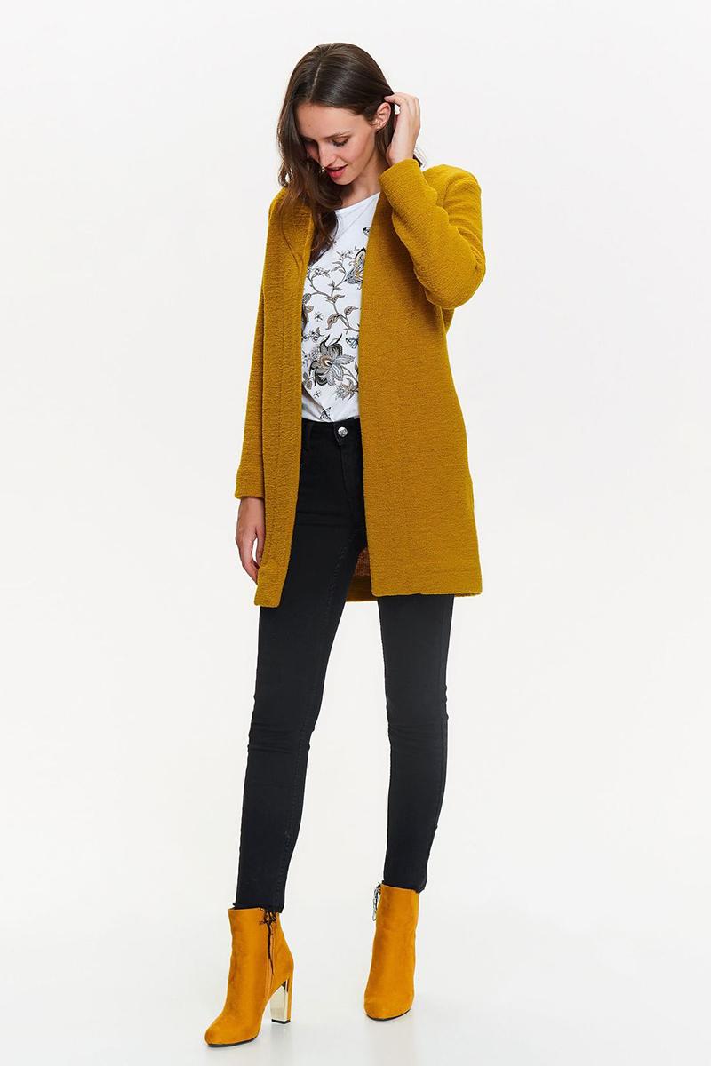 Кардиган женский Top Secret, цвет: горчичный. SSW2205ZI. Размер 40 (48) женский кардиган 013a56