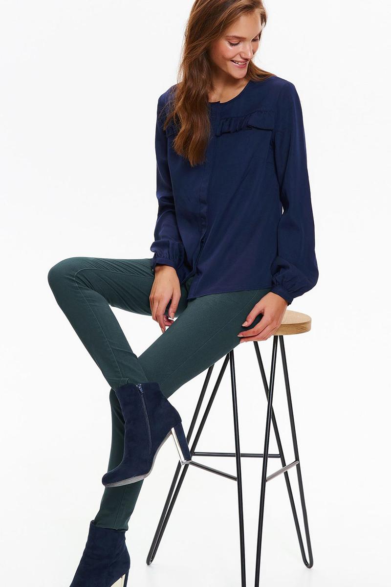 Рубашка женская Top Secret, цвет: темно-синий. SKL2409GR. Размер 40 (48) женская рубашка european and american big c002617 2015