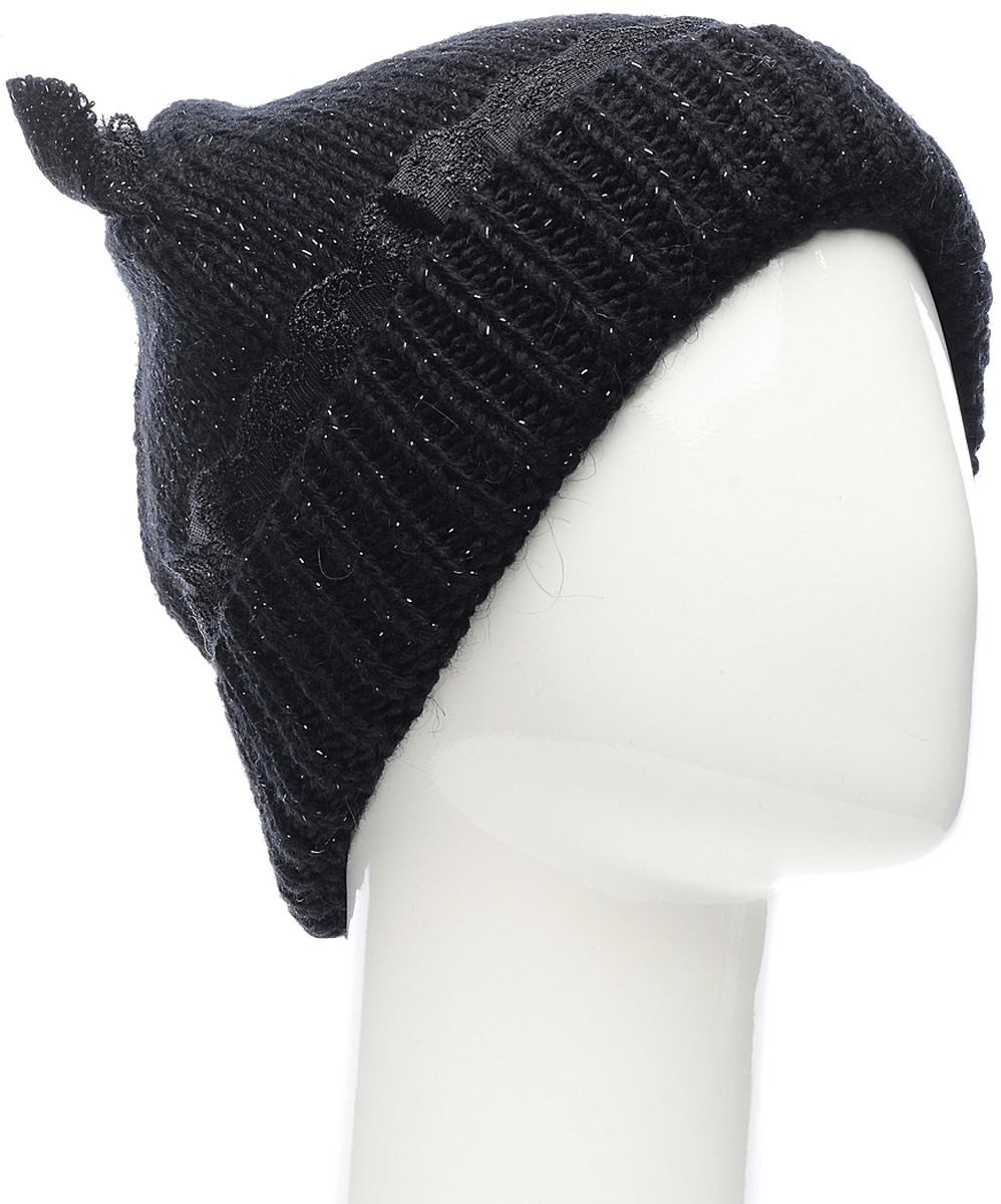 Шапка женская Marhatter, цвет: черный. Размер 56/58. MWH6281/2MWH6281/2Стильная шапка с ушками добавит уникальность вашему образу. Данная модель мягкая и комфортная на ощупь. Незаменимая вещь на прохладную погоду.
