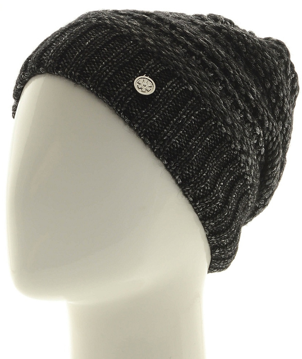Шапка женская Marhatter, цвет: черный. Размер 56/58. MWH6756/2MWH6756/2Теплая шапка из высококачественной пряжи. Практичный и стильный вариант, который идеально дополнит ваш современный образ. Изделие оформлено оригинальным узором.