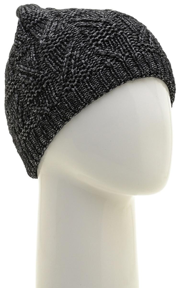Шапка женская Marhatter, цвет: черный. MWH6966/3. Размер 56/58MWH6966/3Стильная шапка-колпак, выполнена из высококачественной пряжи. Модель очень актуальна для тех, кто ценит комфорт, стиль и красоту. Отличный вариант на каждый день.