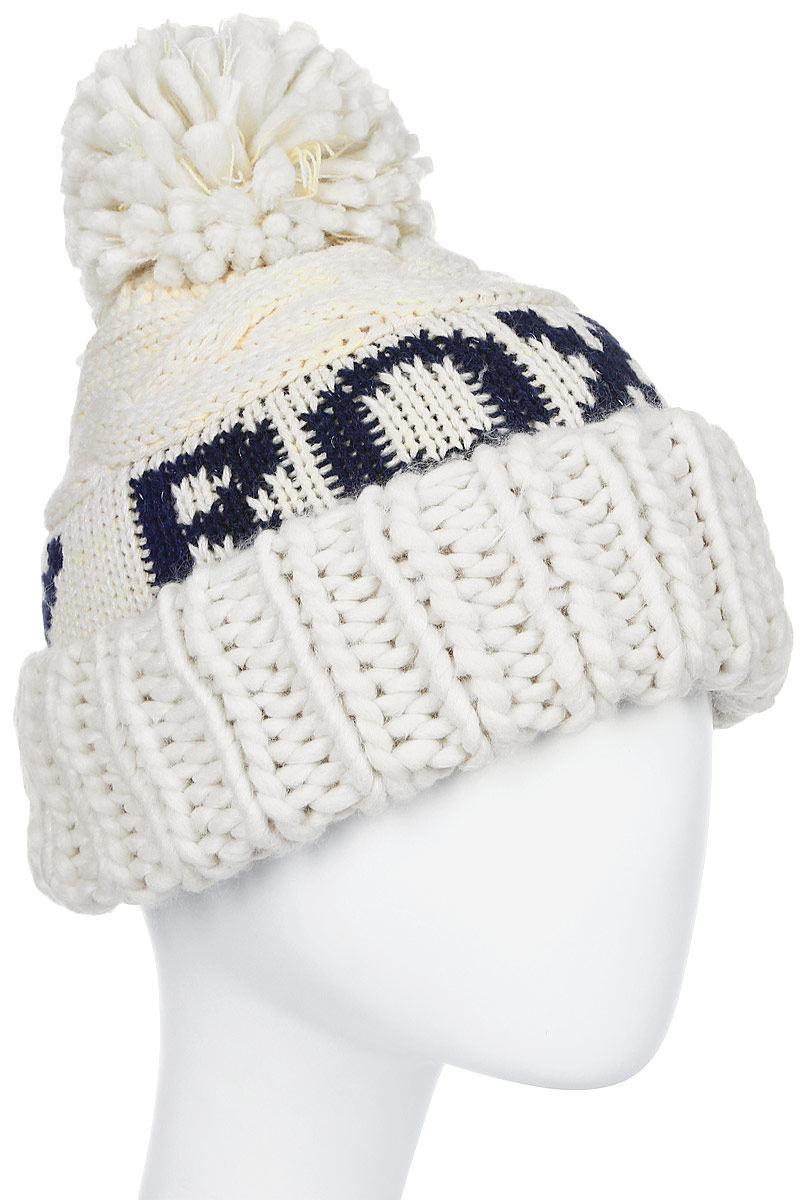 Шапка женская Roxy, цвет: светло-бежевый. ERJHA03289-TEE0. Размер универсальныйERJHA03289-TEE0Стильная женская шапка дополнит ваш наряд и не позволит вам замерзнуть в холодное время года. Шапка крупной вязки выполнена из акрила, что позволяет ей великолепно сохранять тепло и обеспечивает высокую эластичность и удобство посадки.Шапка оформлена помпоном и объемными вязаными узорами.Такая шапка станет модным и стильным дополнением вашего зимнего гардероба. Она согреет вас и позволит подчеркнуть свою индивидуальность!