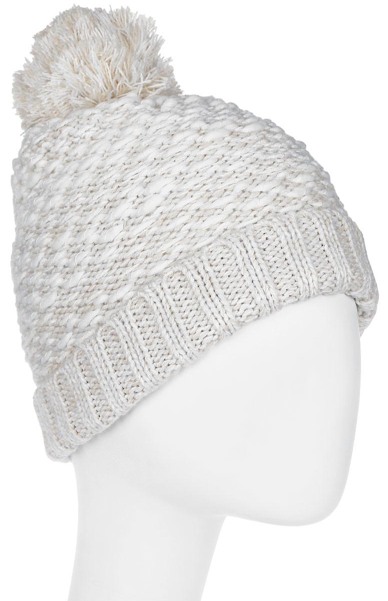 Шапка женская Roxy, цвет: молочный. ERJHA03309-WBT0. Размер универсальныйERJHA03309-WBT0Стильная женская шапка дополнит ваш наряд и не позволит вам замерзнуть в холодное время года. Шапка крупной вязки выполнена из акрила, что позволяет ей великолепно сохранять тепло и обеспечивает высокую эластичность и удобство посадки.Шапка оформлена помпоном и объемными вязаными узорами.Такая шапка станет модным и стильным дополнением вашего зимнего гардероба. Она согреет вас и позволит подчеркнуть свою индивидуальность!