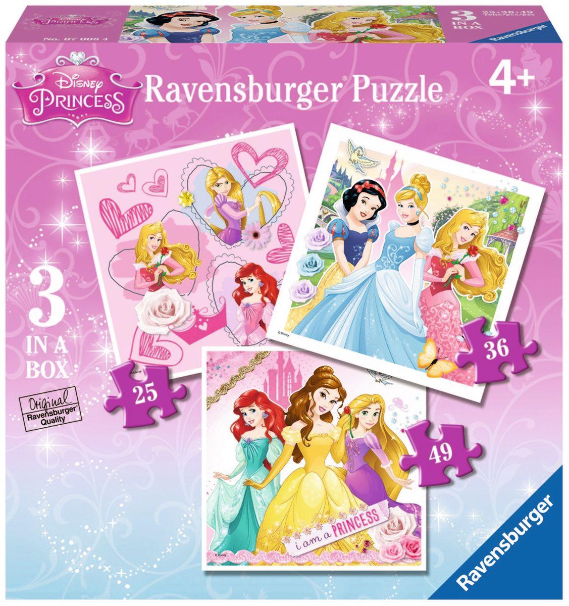 Ravensburger Пазл Принцессы 3 в 1