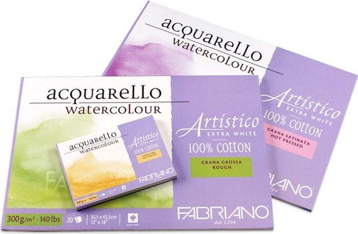 Fabriano Альбом для акварели Artistico Extra White 12 листов 12212636 -  Бумага и картон