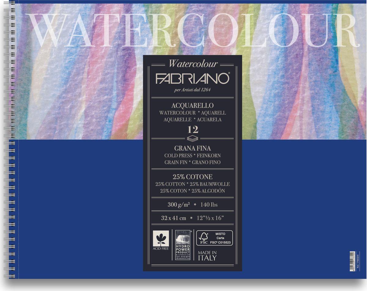 Fabriano Альбом для акварели Watercolour Studio 12 листов 1766324117663241Fabriano Watercolour Studio может быть использована для акварели, темперы, гуаши, акрила, чернил, и графита.Бумага изготавливается из смеси высококачественной целлюлозы и хлопка (25%). Отсутствие кислот в составе гарантирует длительную сохранность готовых работ. Бумага Watercolour Studio прекрасно подойдет для начинающих художников и студентов.