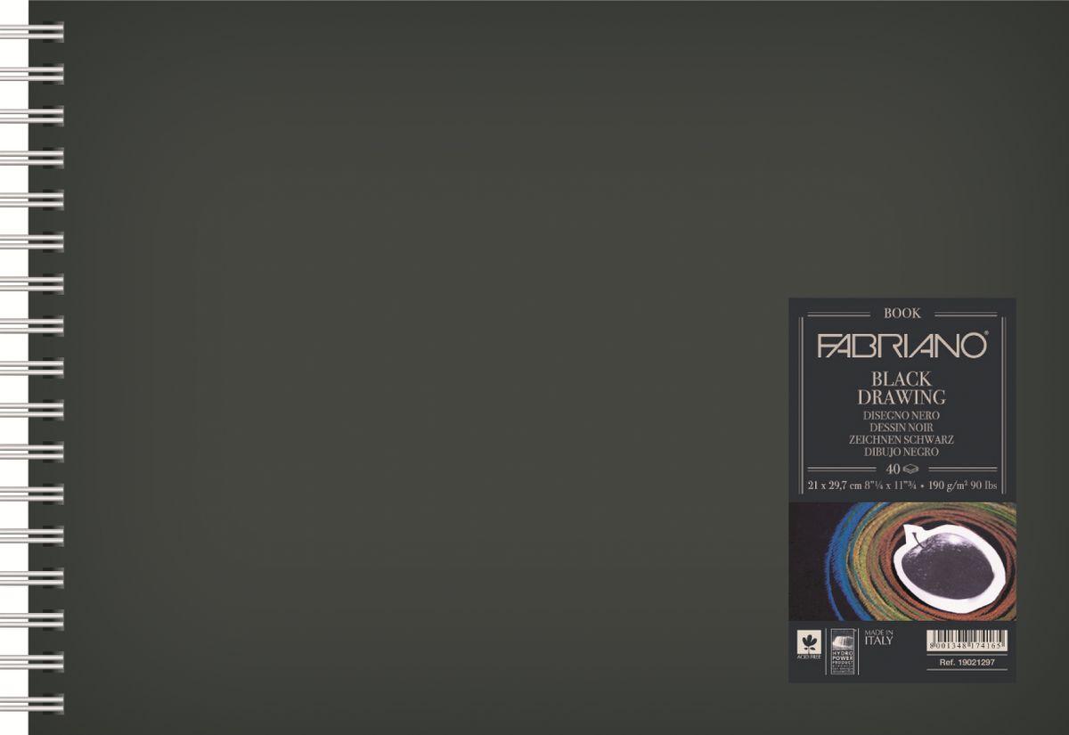 Fabriano Блокнот для зарисовок BlackDrawingBook цвет черный 40 листов 1902129719021297Блокноты для зарисовок Black Drawing Book с черной бумагой прекрасно подойдут для работы не только ручками, маркерами, тушью, но и акриловыми и темперными красками. Бумага для блокнотов изготавливается из 100% целлюлозы без использования кислот, что гарантирует сохранность бумаги на долгие годы.