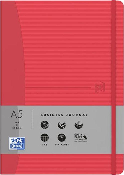 Oxford Блокнот Office Signature цвет красный 72 листа в линейку 400053152400053152Премиальные блокноты Oxford Office Signature идеально подойдут для ежедневных записей и заметок. Широкий ассортимент форматов и цветов не оставит равнодушным ни одного профессионала.Основные характеристики:-Прочная текстурированная обложка из ламинированного плотного картона с закругленными углами.-Надежный переплет (прошивка корешка нитками).-Закладка-ляссе в цвет обложки.-Уникальная бумага Optik Paper 80г/м2 (72 листа).-Задний карман для хранения мелочей. -Эластичная фиксирующая резинка.-Полезные информационные страницы.