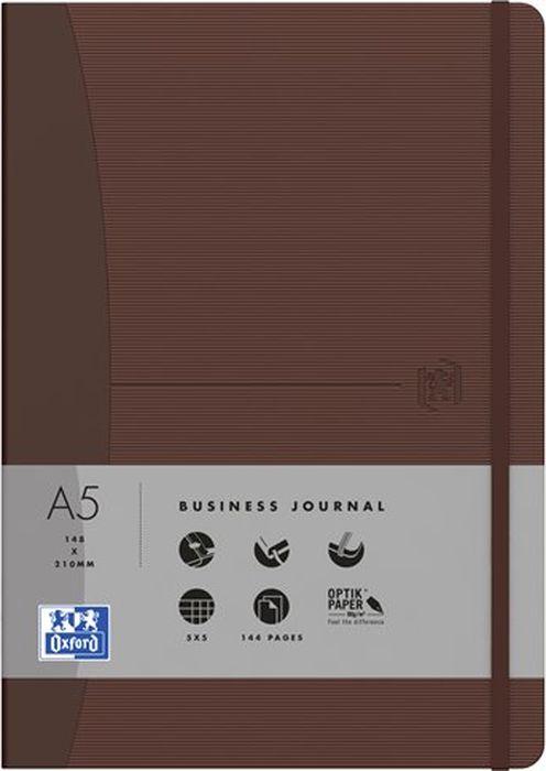 Oxford Блокнот Office Signature цвет коричневый 72 листа в клетку400053158Премиальные блокноты Oxford Office Signature идеально подойдут для ежедневных записей и заметок. Широкий ассортимент форматов и цветов не оставит равнодушным ни одного профессионала.Основные характеристики:-Прочная текстурированная обложка из ламинированного плотного картона с закругленными углами.-Надежный переплет (прошивка корешка нитками).-Закладка-ляссе в цвет обложки.-Уникальная бумага Optik Paper 80г/м2 (72 листа).-Задний карман для хранения мелочей. -Эластичная фиксирующая резинка.-Полезные информационные страницы.