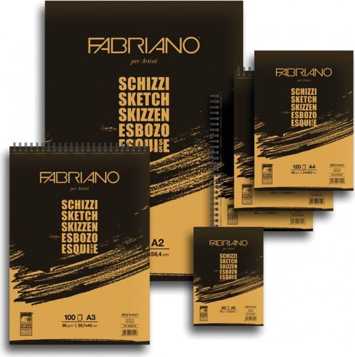 Fabriano Блокнот для зарисовок Schizzi 60 листов 5664259456642594блокноты Schizzi подходят для работы с разными сухими графическими материалами – пастелью, углем, чернографитными и цветными карандашами.Бумага для альбомов Schizzi изготавливается без добавления кислот и оптических отбеливателей и соответствует экологическим стандартам качества.