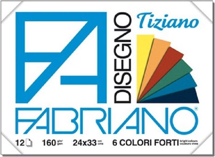 Fabriano Блок для пастели Tiziano 12 листов 6612243366122433Бумага для пастели Tiziano одна из самых популярных в мире. Бумага может быть использована не только для сухих техник (пастель, уголь, сепия, сангина, карандаш, акварельные краски и гуашь), но и для дизайнерских работ (скручивание, резка, склеивание, создание карт и так далее).Tiziano изготавливается из целлюлозы и хлопка (40%). В состав не входят кислоты, что обеспечивает высокую светостойкость готовой работы. Благодаря зернистой, чуть шероховатой фактуре обеспечивается сцепление материалов с поверхностью бумаги.