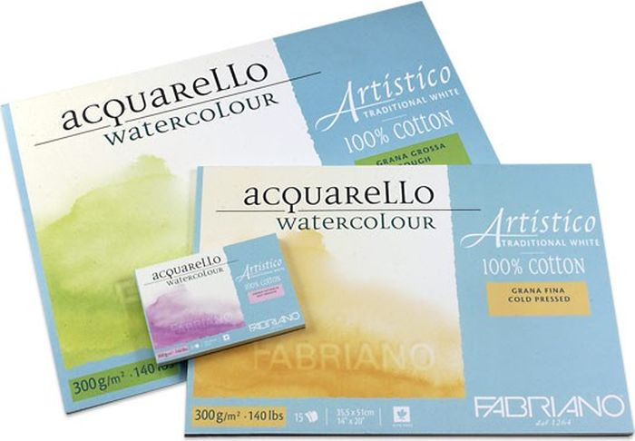 Fabriano Альбом для акварели Artistico Traditional White 12 листов 66321926 -  Бумага и картон