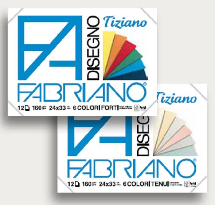 Fabriano Блок для пастели Tiziano 12 листов 67122433 -  Бумага и картон