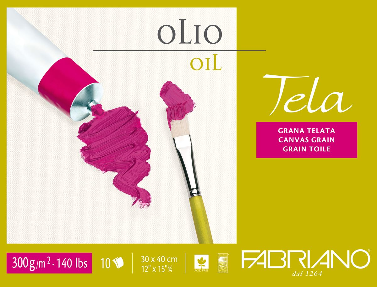 Fabriano Блок для масла Tela 10 листов 68001824 -  Бумага и картон