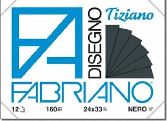 Fabriano Блок для пастели Tiziano цвет черный 12 листов -  Бумага и картон