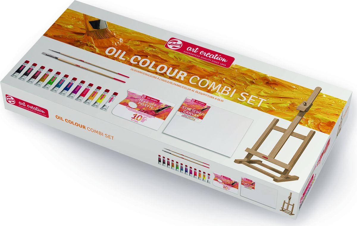 Royal Talens Набор масляных красок Art Creation 12 цветов 9010113M9010113MСерия масляных красок Art Creation имеет палитру ярких оттенков, изготовленныхна основе высококачественных пигментов и растительных масел. Краскипригодны для всех методов масляной живописи. Масляные краски сохнут оченьмедленно, что позволяет продолжать исправлять живопись в течениедлительного времени. После высыхания краски не темнеют и сохраняют объем.