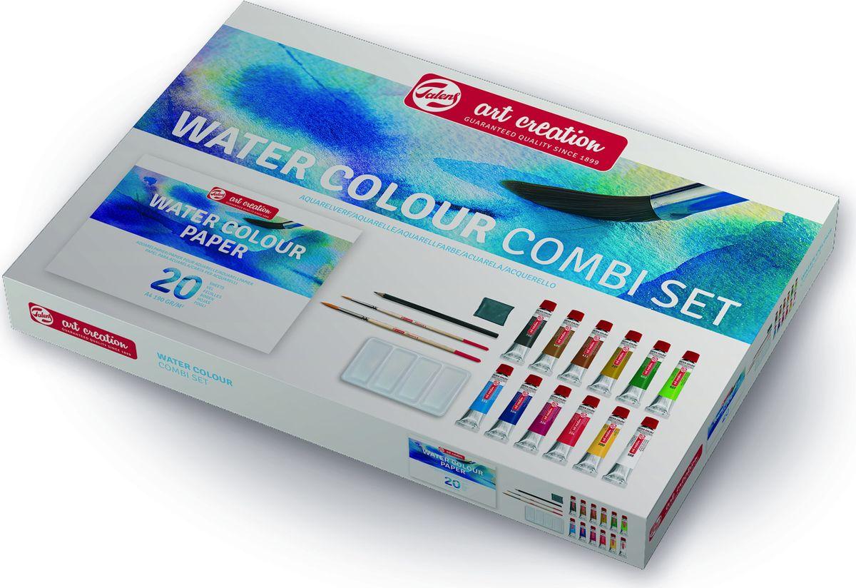 Royal Talens Набор акварельных красок Art Creation 12 цветов 9012013M9012013MАкварельные краскиArt Creationпрекрасно подходят для начинающих художникови любителей, так как краски легкоразмываются водой и просты в работе. Чембольше используется воды, тем светлее цвет краски. В результате многиепрозрачные слои могут быть нанесены поверх друг друга.